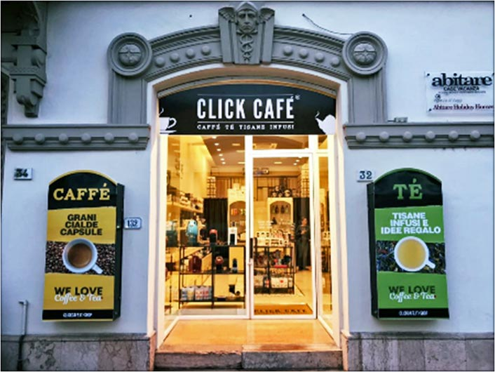 click cafe aprire franchising