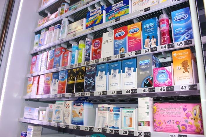 Distributori automatici di prodotti parafarmaceutici