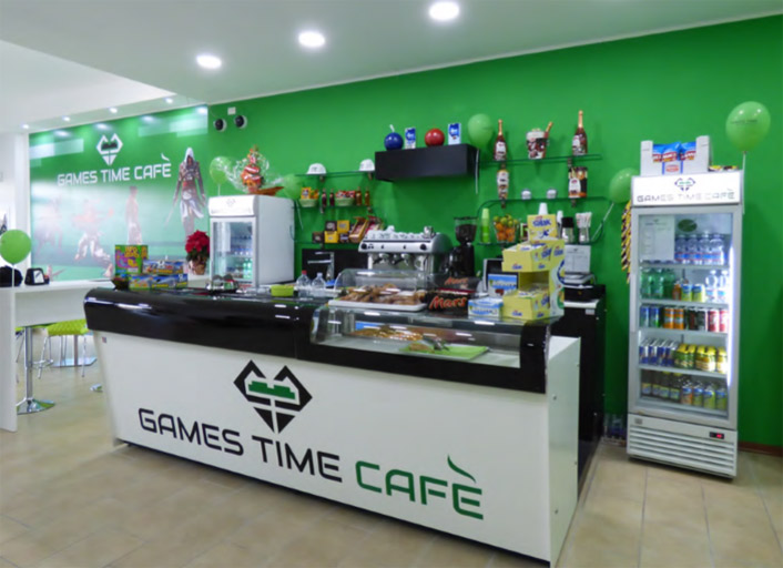 aprire un games time cafe